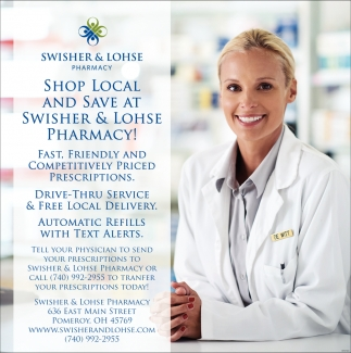 Shop Local and Save at Swisher Lohse Pharmacy