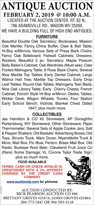Antique Auction - February 2