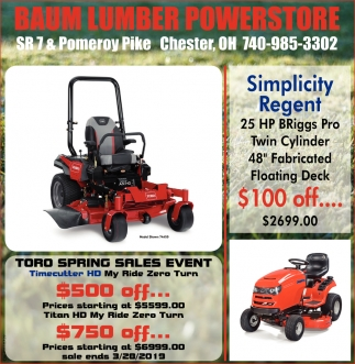 Toro Springs Sales Event