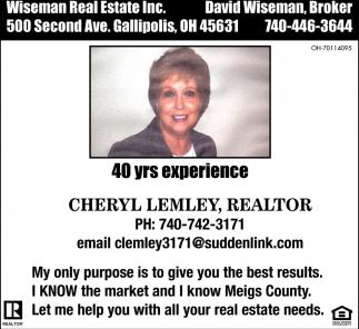 Cheryl Lemley, Realtor