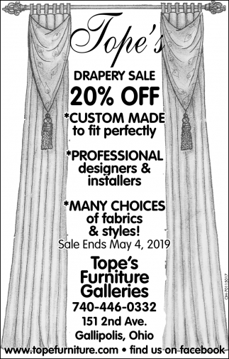Drapery Sale 20% Off