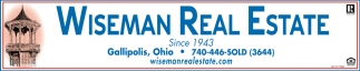 Since 1943 Wiseman Real Estate has been Gallia County's leading real estate firm.