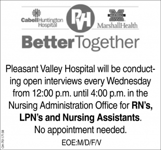 Registered Nurses, Licensed Practical Nurses, Nursing Assistants