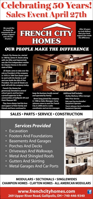 Sales - Parts - Services - Construction