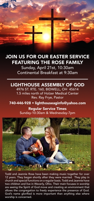 Join us for our Easter Service featuring The Rose Family