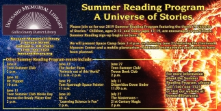 Summer Reading Program A Universe of Stories