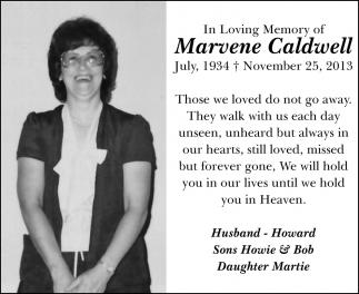 In Loving Memory of Marvene Caldwell