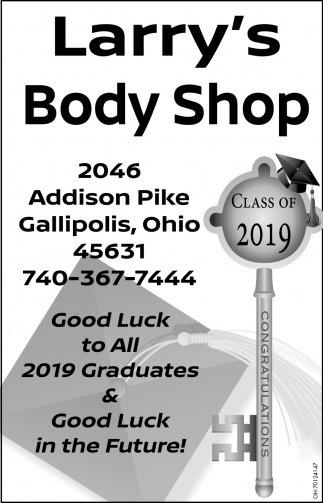 Good Luck to All 2019 Graduates