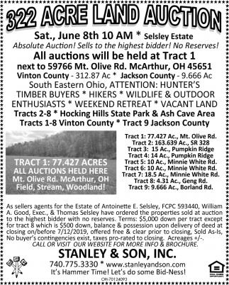 322 Acre Land Auction