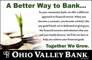A Better Way to Bank...