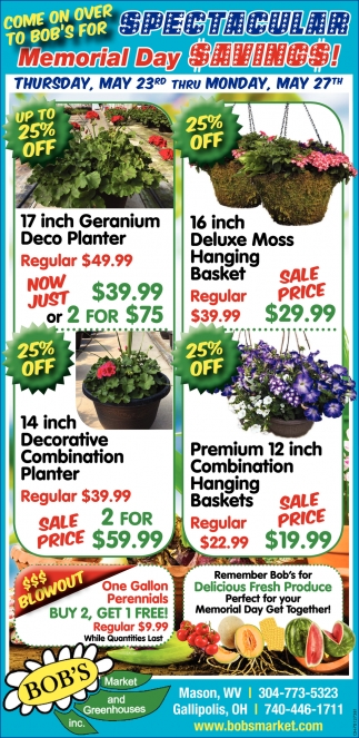 Spectacular Memorial Day Savings