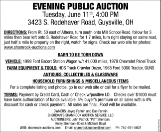 Evening Public Auction