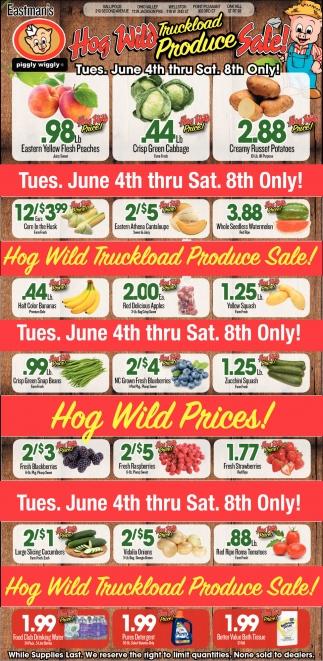 Hog Wild Truckload Produce Sale!