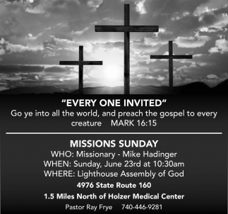 Missions Sunday - Missionary Mike Hadinger