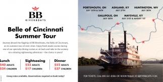 Belle of Cincinnati Summer Tour