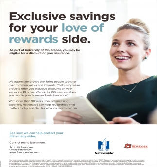 Exclusive savings for your love of rewards side