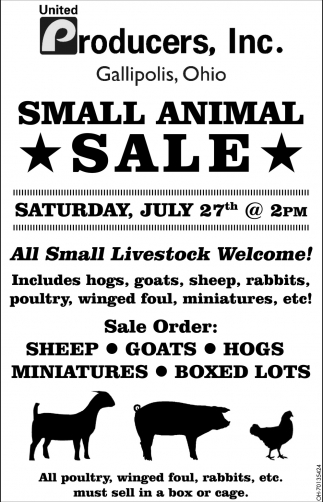 Small Animal Sale