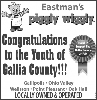 congratulations to the Youth of Gallia County!