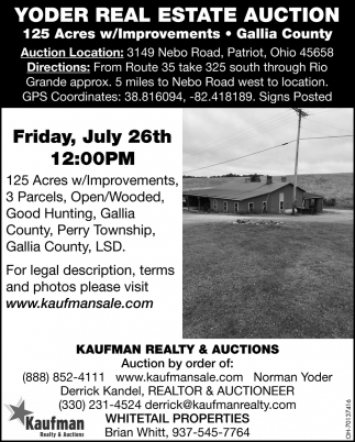 Yoder Real Estate Auction