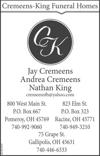 Jay Cremeens - Andrea Cremeens - Nathan King