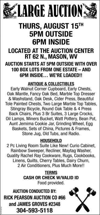 Large Auction - August 15th