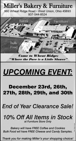 End of Year Clearance Sale!