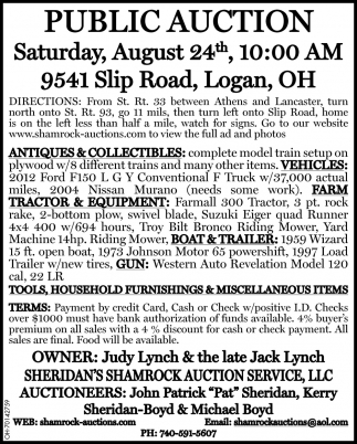Public Auction - August 24th