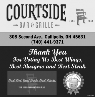Thank You For Voting Us Best Wings, Best Burgers and Best Steak