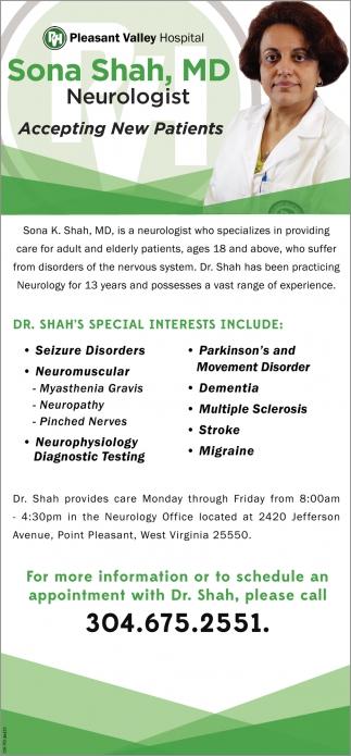Sona Shah, MD- Neurologist