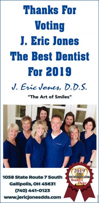 Thanks For Voting J. Eric Jones The Best Dentist For 2019