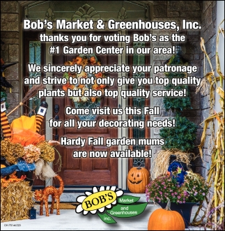 Thanks you for voting Bob's as the #1 Garden Center in our area!