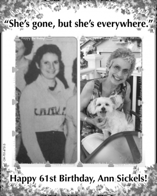 Happy 61st Birthday, Ann Sickels
