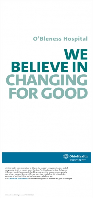 We believe in changing for good