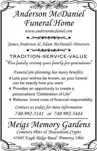 Tradition - Service - Value