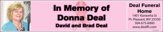 In Memory of Donna Deal
