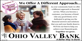 We Offer Different Apptoach...