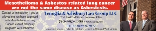 Mesothelioma & Asbestos related lung cancer are not the same disease as Asbestosis