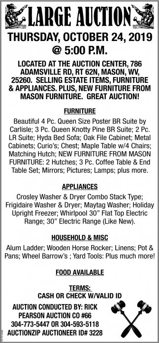 Large  Auction - October 24
