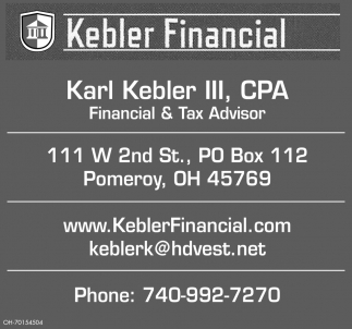 Karl Kebler III, CPA - Financial & Tax Advisor