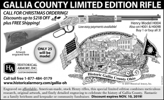 Gallia County Limited Edition Rifle