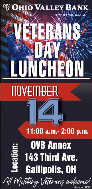 Veterans Day Luncheon - November 14