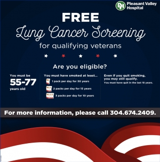 Free Lung Cancer Screening for Qualifying veterans