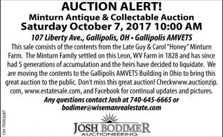 Auction Alert!