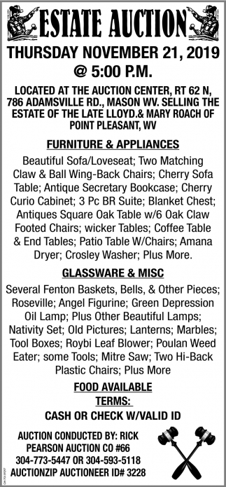 Estate Auction - November 21