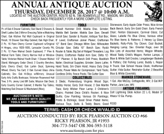 Annual Antique Auction