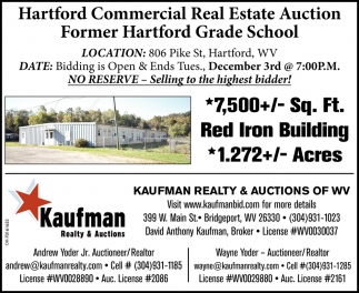 Hartford Commercial Real Estate Auction - December 3rd