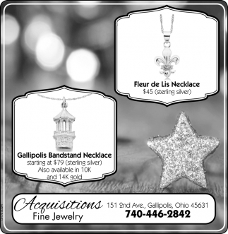 Gallipolis Bandstand Necklace | Fleur de Lis Necklace