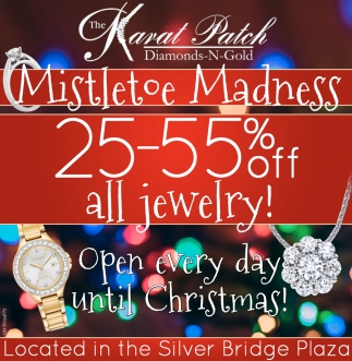 25-55% off Jewelry - Open every day until Christmas