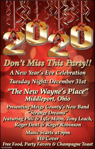 2020 - Don't Miss This Party!