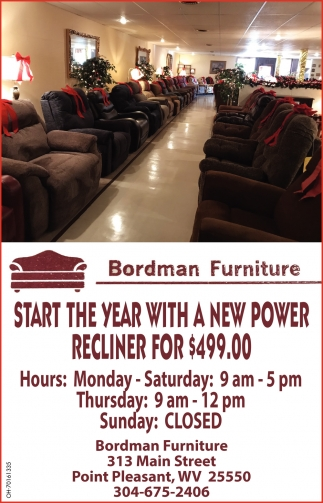 Start The Year With A New Power Recliner For $499.00